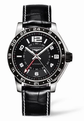 L3.668.4.56.2 : Longines Admiral GMT Black XL