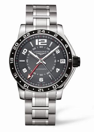 Longines L3.668.4.79.6 : Admiral GMT Grey Bracelet