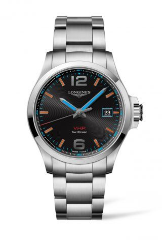 L3.726.4.99.6 : Longines Conquest V.H.P. 43 Stainless Steel / Gold Coast Commonwealth Games / Bracelet
