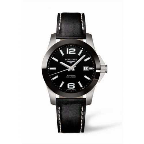 L3.655.4.56.0 : Longines Conquest Automatic 39 Ceramic