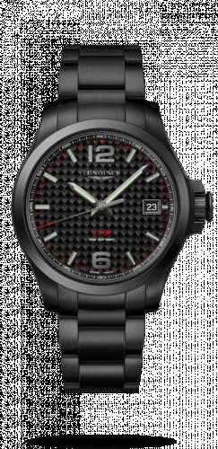 Longines L3.716.2.66.6 : Conquest V.H.P. 41 PVD / Carbon / Bracelet