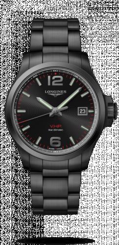 Longines L3.726.2.56.6 : Conquest V.H.P. 43 PVD / Black / Bracelet