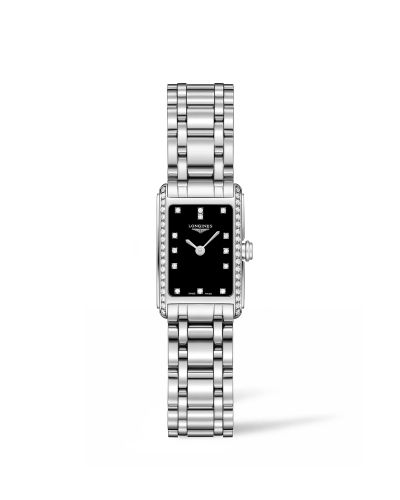 L5.258.0.57.6 : Longines DolceVita 17.4 Quartz Stainless Steel / Diamond / Black / Bracelet