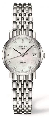 L4.309.4.87.6 : Longines Elegant Collection 25.5 Automatic Stainless Steel / MOP / Bracelet