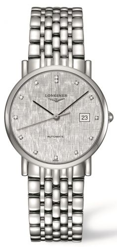 Longines L4.809.4.77.6 : Elegant Collection 34.5 Automatic Stainless Steel / Silver / Bracelet