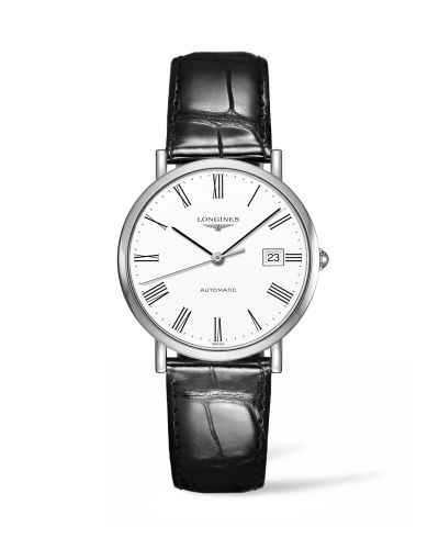 Longines L4.810.4.11.2 : Elegant Collection Automatic 37 Stainless Steel / White / Strap