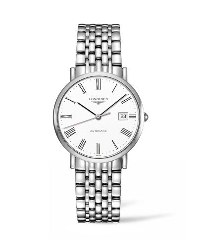 Longines L4.810.4.11.6 : Elegant Collection Automatic 37 Stainless Steel / White / Bracelet