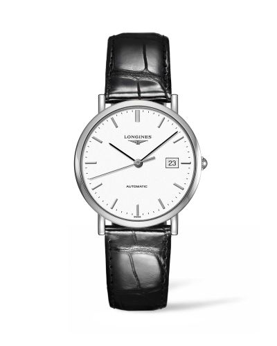 L4.810.4.12.2 : Longines Elegant Collection Automatic 37 Stainless Steel / White / Strap