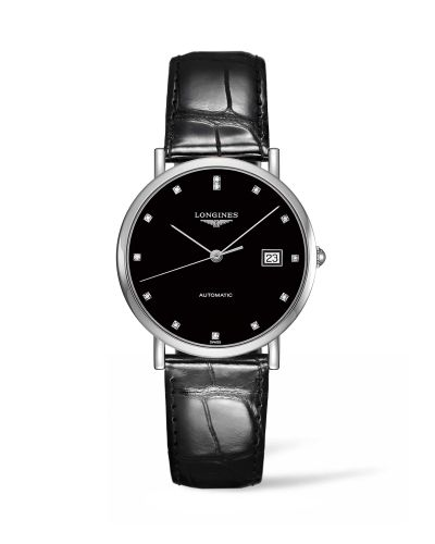 Longines L4.810.4.57.2 : Elegant Collection Automatic 37 Stainless Steel / Black / Strap