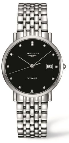 Longines L4.810.4.57.6 : Elegant Collection Automatic 37 Stainless Steel / Black / Bracelet