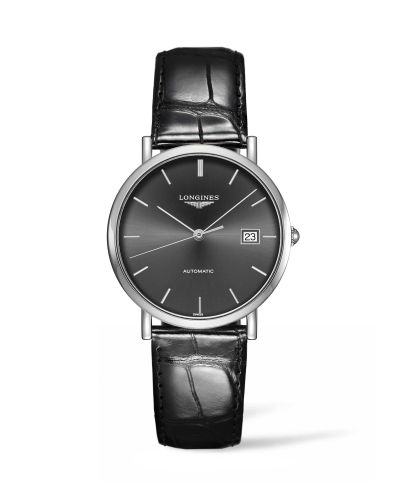 Longines L4.810.4.72.2 : Elegant Collection Automatic 37 Stainless Steel / Grey / Strap