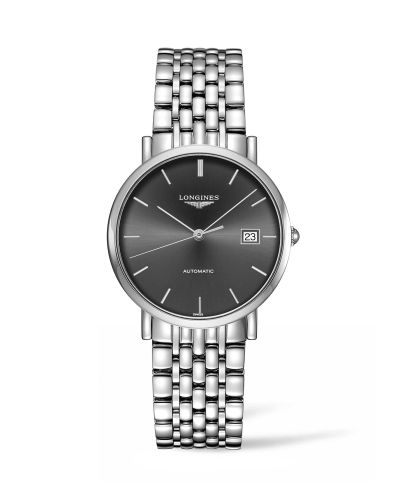 Longines L4.810.4.72.6 : Elegant Collection Automatic 37 Stainless Steel / Grey / Bracelet