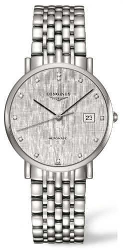 Longines L4.810.4.77.6 : Elegant Collection Automatic 37 Stainless Steel / Silver / Bracelet