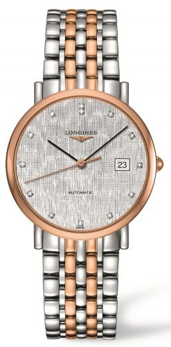 Longines L4.810.5.77.7 : Elegant Collection Automatic 37 Stainless Steel / Red Gold / Silver