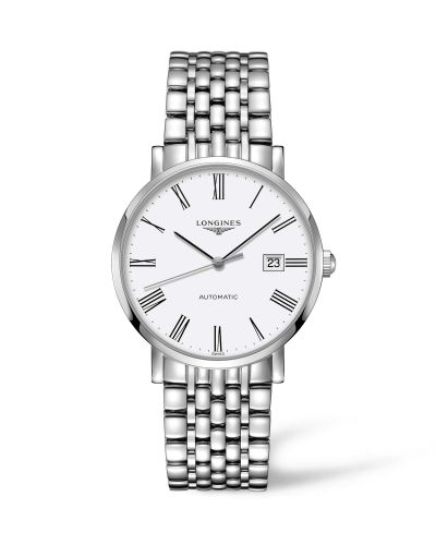 Longines L4.910.4.11.6 : Elegant Collection Automatic 39 Stainless Steel / White / Bracelet