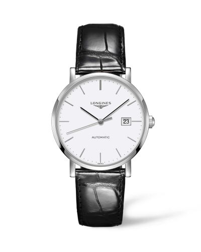 Longines L4.910.4.12.2 : Elegant Collection Automatic 39 Stainless Steel / White / Strap
