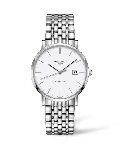 Longines L4.910.4.12.6 : Elegant Collection Automatic 39 Stainless Steel / White / Bracelet