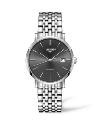 Longines L4.910.4.72.6 : Elegant Collection Automatic 39 Stainless Steel / Grey / Bracelet