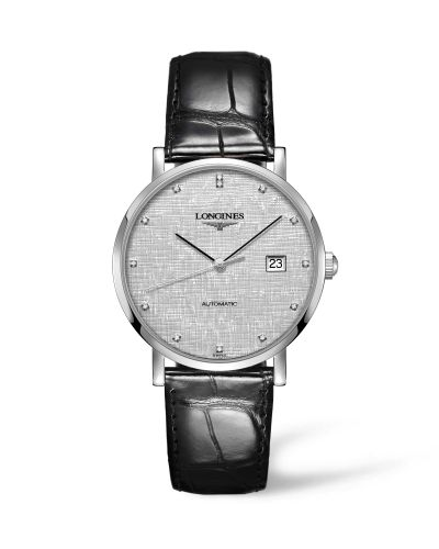 Longines L4.910.4.77.2 : Elegant Collection Automatic 39 Stainless Steel / Silver / Strap