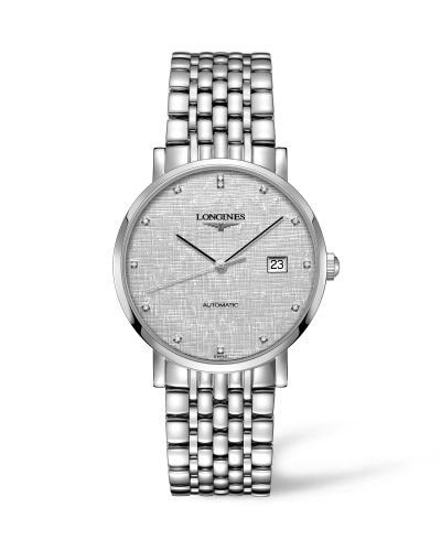Longines L4.910.4.77.6 : Elegant Collection Automatic 39 Stainless Steel / Silver/ Bracelet