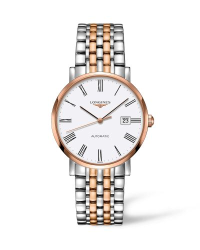 Longines L4.910.5.11.7 : Elegant Collection Automatic 9 Stainless Steel / Red Gold / White