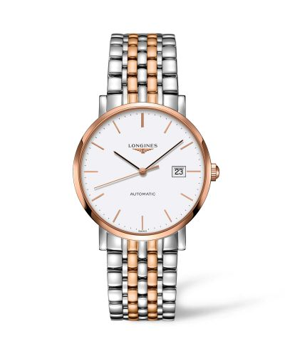 Longines L4.910.5.12.7 : Elegant Collection Automatic 9 Stainless Steel / Red Gold / White