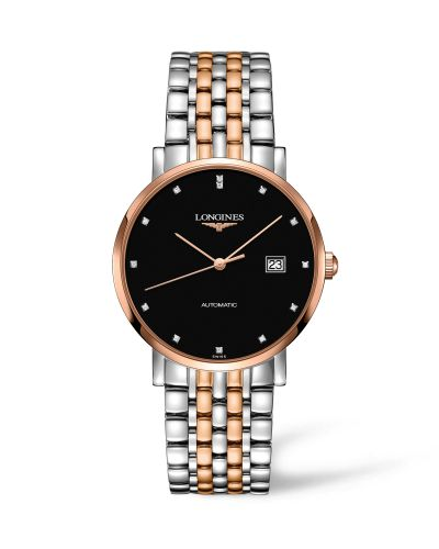 Longines L4.910.5.57.7 : Elegant Collection Automatic 9 Stainless Steel / Red Gold / Black