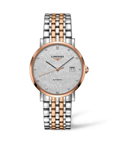 Longines L4.910.5.77.7 : Elegant Collection Automatic 9 Stainless Steel / Red Gold / Silver