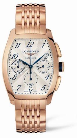 Longines L2.643.8.73.6 : Evidenza Chronograph Pink Gold Bracelet