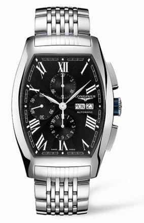 Longines L2.701.4.58.6 : Evidenza Chronograph XL Black Bracelet