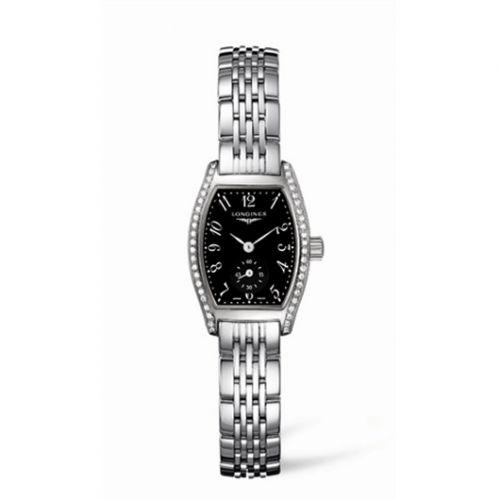 Longines L2.175.0.53.6 : Evidenza 19.6 Diamond Black Bracelet