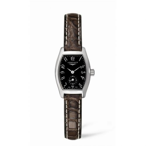 L2.175.4.53.5 : Longines Evidenza 19.6 Stainless Steel Black