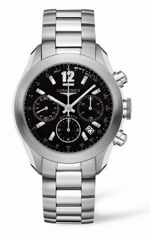 Longines L3.635.4.56.6 : GrandeVitesse Chronograph Black Bracelet