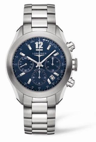 Longines L3.635.4.96.6 : GrandeVitesse Chronograph Blue Bracelet