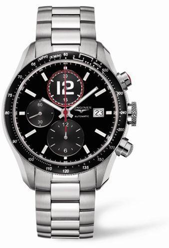 Longines L3.636.4.50.6 : GrandeVitesse Tachymeter Black Bracelet