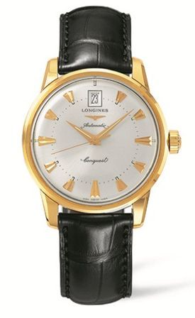 L1.611.6.72.4 : Longines Conquest Heritage Yellow Gold