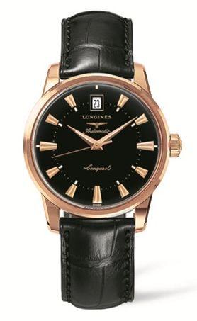 Longines L1.611.8.52.4 : Conquest Heritage Pink Gold Black