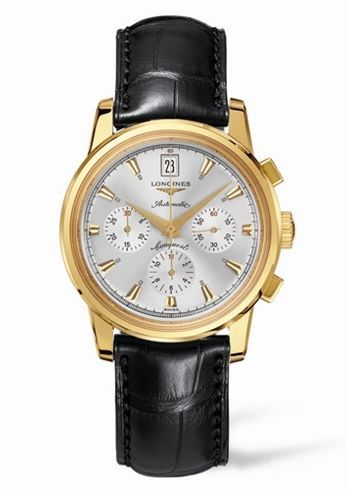 Longines L1.641.6.72.4 : Conquest Heritage Chronograph Yellow Gold