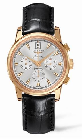 Longines L1.641.8.72.4 : Conquest Heritage Chronograph Pink Gold