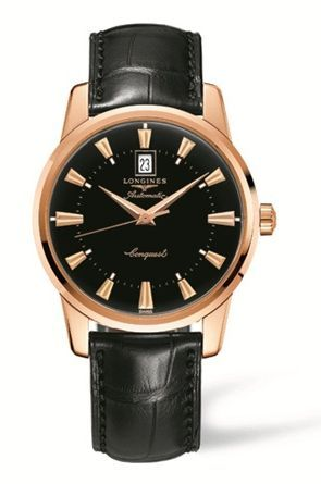 L1.645.8.52.4 : Longines Conquest Heritage 40mm Pink Gold Black
