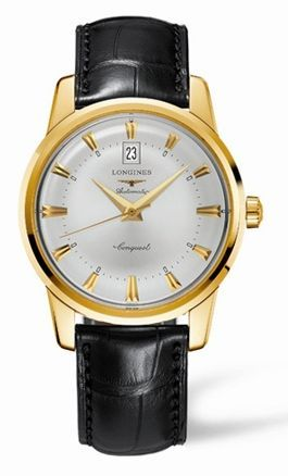 Longines L1.645.6.75.4 : Conquest Heritage 40mm Yellow Gold