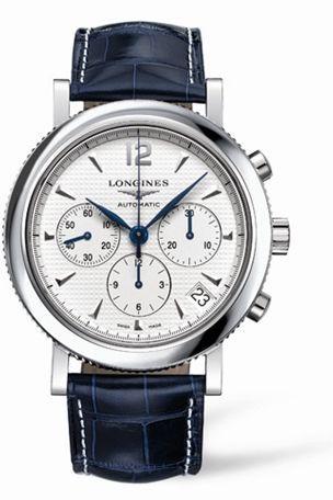 L2.704.4.16.3 : Longines Clous de Paris Chronograph Silver