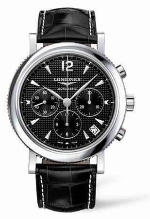 L2.704.4.56.3 : Longines Clous de Paris Chronograph Black