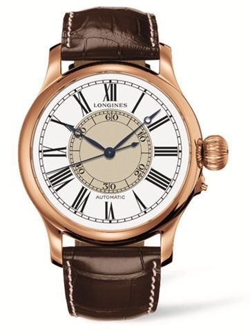 L2.713.8.11.0 : Longines Weems Second-Setting Watch Pink Gold Roman