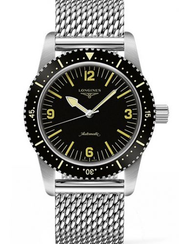 Longines L2.822.4.56.6 : Skin Diver Stainless Steel / Black / Milanese