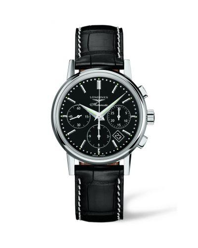 L2.733.4.52.0 : Longines Column-Wheel Chronograph Black