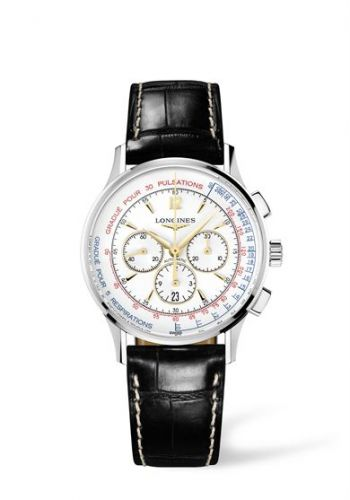 Longines L2.787.4.16.2 : Asthmometer-Pulsometer Chronograph
