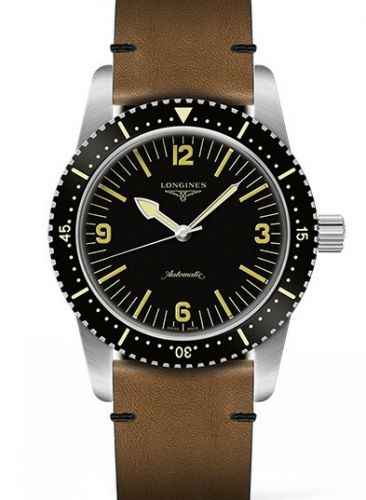 Longines L2.822.4.56.2 : Skin Diver Stainless Steel / Black / Calf