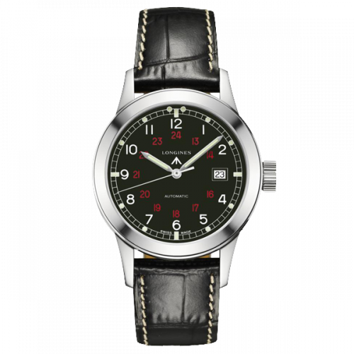 L2.832.4.53.0 : Longines Heritage Military COSD Black