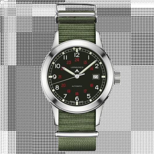 Longines L2.832.4.53.5 : Heritage Military COSD Black